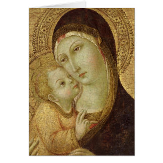Madonna and Child 2 Card