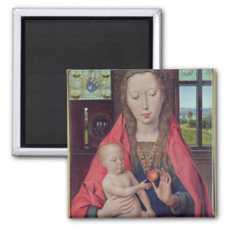Madonna and Child 2 Square Magnet