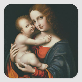 Madonna and Child 2 Square Sticker
