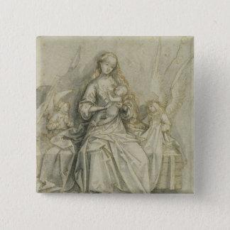 Madonna and Child 3 15 Cm Square Badge