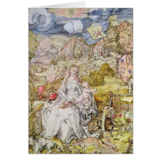 Madonna and Child 3 Card