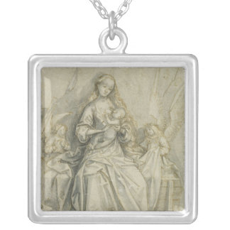 Madonna and Child 3 Silver Plated Necklace