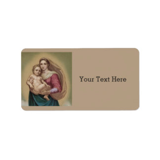 Madonna And Child Address Label