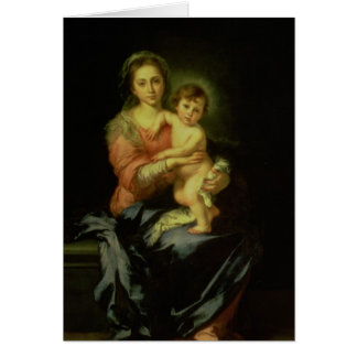 Madonna and Child, after 1638 Card