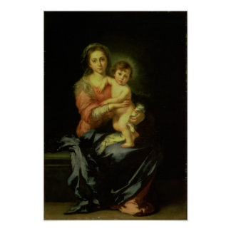 Madonna and Child, after 1638 Poster