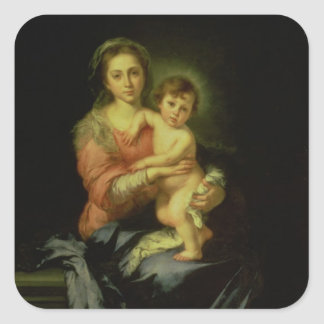 Madonna and Child, after 1638 Square Sticker