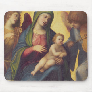 Madonna and Child and child in Glory, c.1520 (oil Mouse Mat