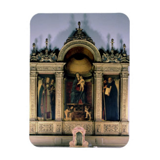 Madonna and Child and Saints (triptych altarpiece) Vinyl Magnet