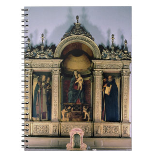 Madonna and Child and Saints (triptych altarpiece) Notebook