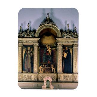 Madonna and Child and Saints (triptych altarpiece) Vinyl Magnet