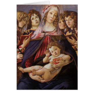 Madonna and Child Angels by Botticelli, Christmas Card
