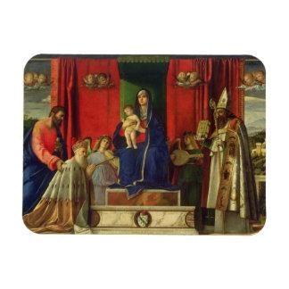 Madonna and Child (Barbarigo Altarpiece) 1488 Rectangular Photo Magnet