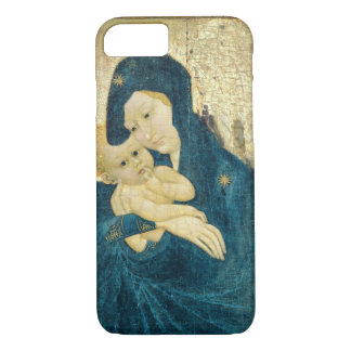 Madonna and Child, Bourgogne School (oil on panel) iPhone 8/7 Case