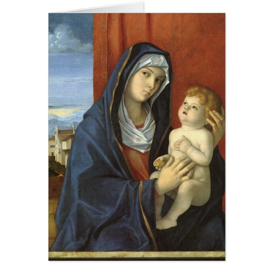 Madonna and Child by Giovanni Bellini Card