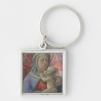 Madonna and Child, c.1430 (tempera on panel) Silver-Colored Square Key Ring