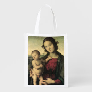 Madonna and Child c 1495 Grocery Bag