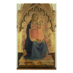 Madonna and Child, central panel of a triptych Poster