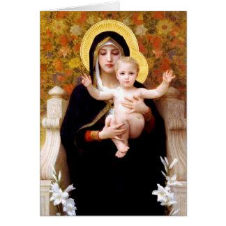 Madonna and Child Christmas Greeting Card
