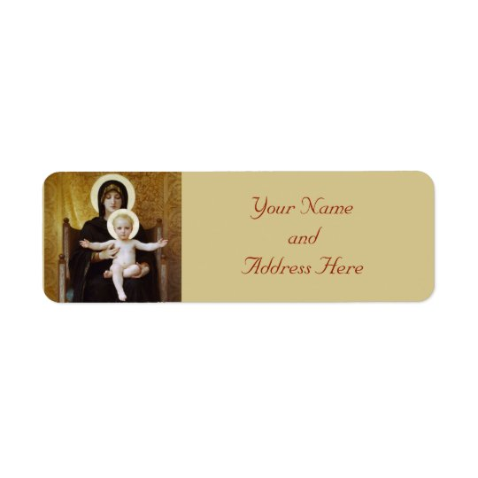 Madonna and Child Christmas Return Address Labels