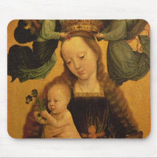 Madonna and Child Crowned by Two Angels, c.1520 Mouse Pad