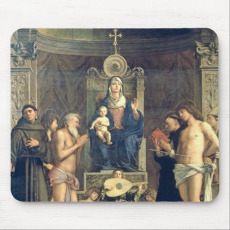 Madonna and Child Enthroned between SS. Francis, J Mouse Pad