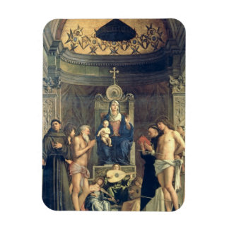 Madonna and Child Enthroned between SS. Francis, J Vinyl Magnets