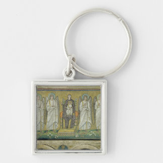 Madonna and Child enthroned by angels Key Ring