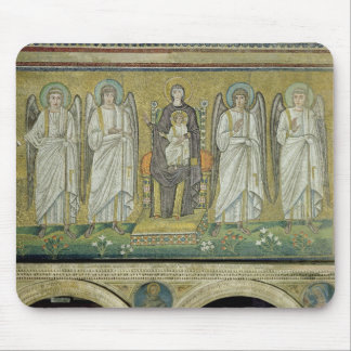 Madonna and Child enthroned by angels Mouse Pad