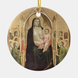 Madonna and Child Enthroned, c.1300-03 (PRE-restor Round Ceramic Decoration