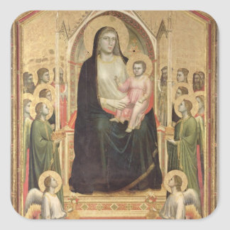 Madonna and Child Enthroned, c.1300-03 (PRE-restor Square Sticker