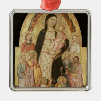 Madonna and Child Enthroned Christmas Ornament