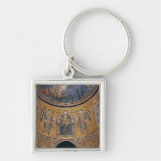Madonna and Child Enthroned Key Ring