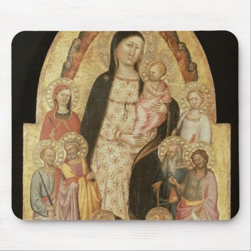 Madonna and Child Enthroned Mousepad