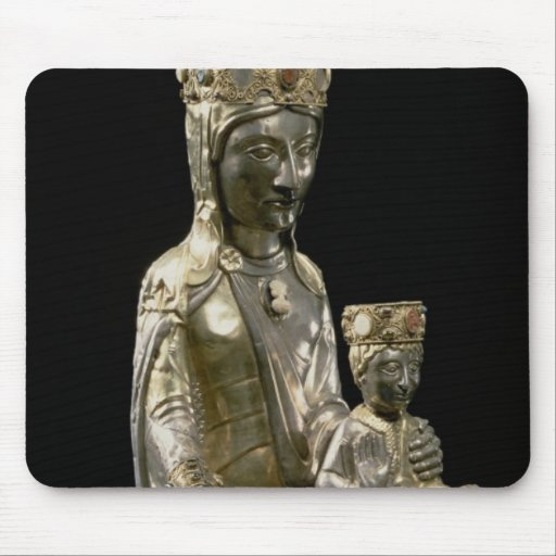 Madonna and Child Enthroned, statuette, French, 12 Mouse Pads