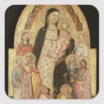 Madonna and Child Enthroned Sticker