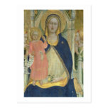 Madonna and Child enthroned with Saints, detail sh Post Card