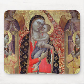 Madonna and child enthroned with six angels (panel mouse mat