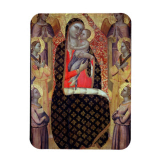 Madonna and child enthroned with six angels (panel rectangular magnet