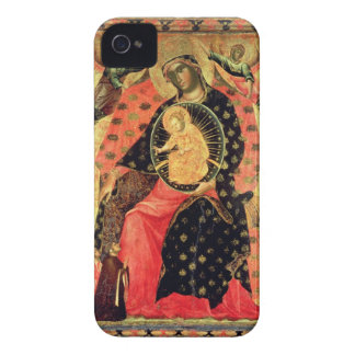 Madonna and Child Enthroned with Two Devout People iPhone 4 Covers