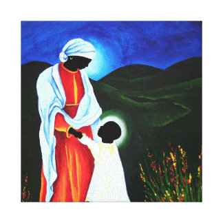 Madonna and child - First steps 2008 Canvas Print