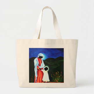 Madonna and child - First steps 2008 Large Tote Bag