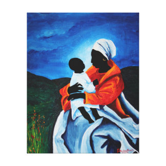 Madonna and child - First words 2008 Canvas Print