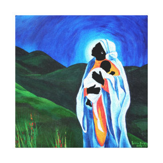 Madonna and child - Hope for the world 2008 Canvas Print