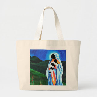 Madonna and child - Hope for the world 2008 Large Tote Bag