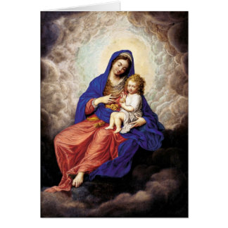 Madonna and Child in Glory Card