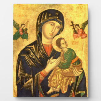 Madonna and Child Jesus Icon Plaque