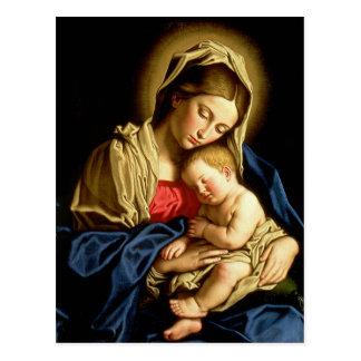 Madonna and Child Jesus - Sassoferrato Postcard