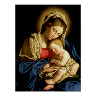 Madonna and Child Jesus - Sassoferrato Poster