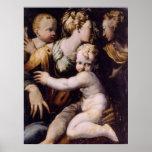 Madonna and Child, John the Baptist..  Print