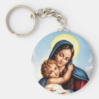 Madonna and Child keychain